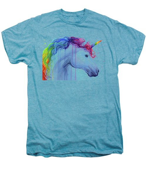 Rainbow Unicorn Watercolor Men's Premium T-Shirt