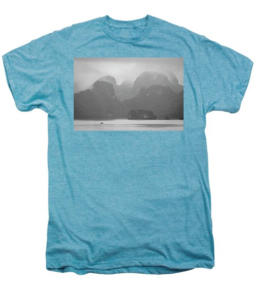 Men's Premium T-Shirt featuring the photograph Rainy Ha Long Bay, Ha Long, 2014 by Hitendra SINKAR