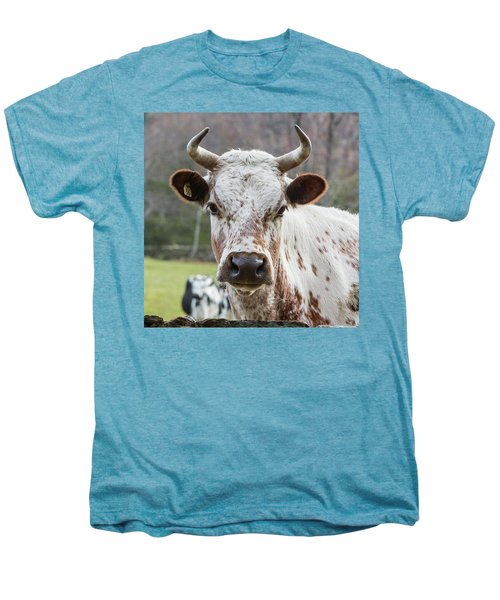 Men's Premium T-Shirt featuring the photograph Randall Cow by Bill Wakeley
