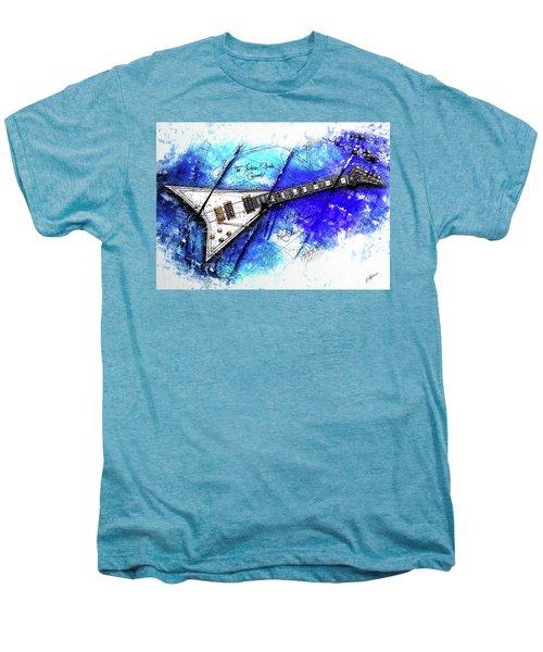 Randy's Guitar On Blue II Men's Premium T-Shirt