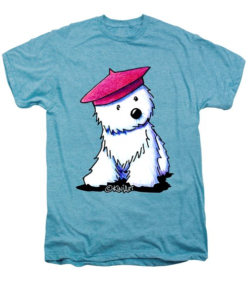 Raspberry Beret Westie Men's Premium T-Shirt by Kim Niles
