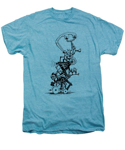 Rat Reverse-cycle Steam Engine Men's Premium T-Shirt by Kim Gauge