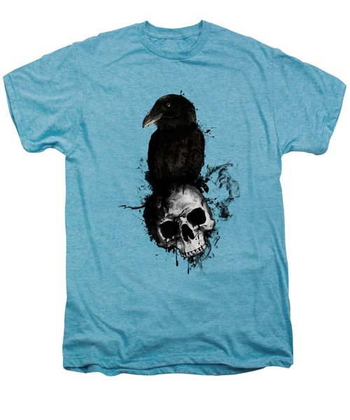 Raven And Skull Men's Premium T-Shirt by Nicklas Gustafsson