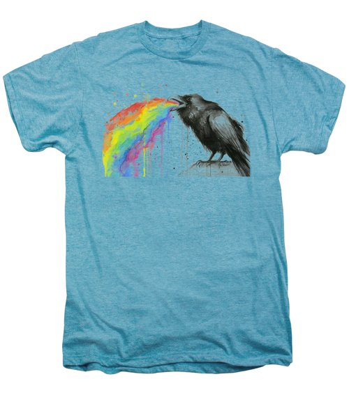 Raven Tastes The Rainbow Men's Premium T-Shirt by Olga Shvartsur