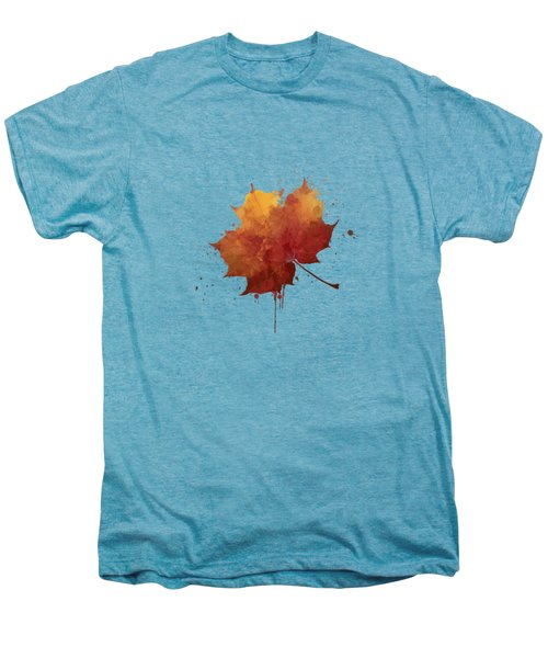 Red Autumn Leaf Men's Premium T-Shirt by Thubakabra