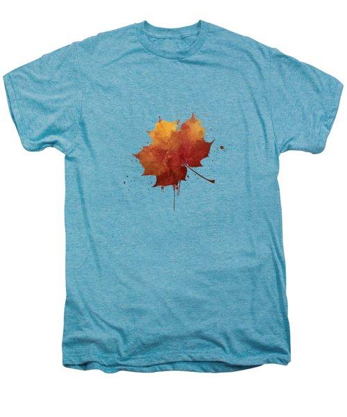 Red Autumn Leaf Men's Premium T-Shirt