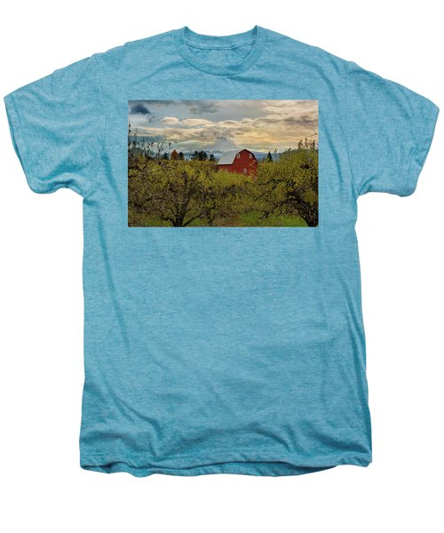 Red Barn At Pear Orchard Men's Premium T-Shirt