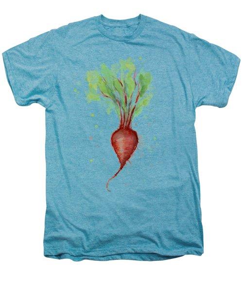 Red Beet Watercolor Men's Premium T-Shirt