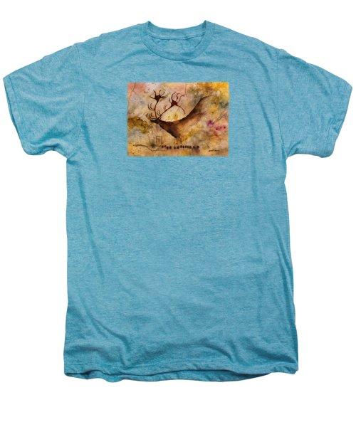 Red Deer Men's Premium T-Shirt by Hailey E Herrera