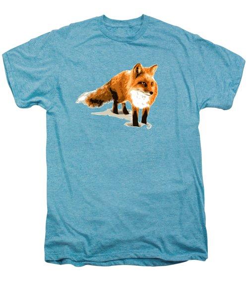 Red Fox In Winter Men's Premium T-Shirt