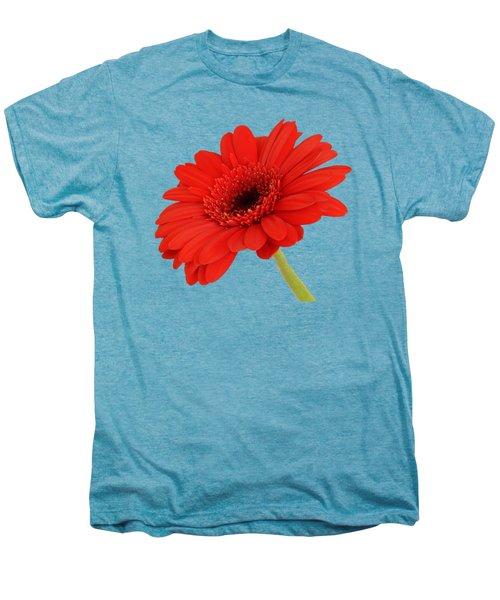 Red Gerbera Daisy 2 Men's Premium T-Shirt by Scott Carruthers
