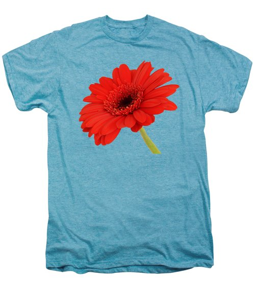 Red Gerbera Daisy 2 Men's Premium T-Shirt