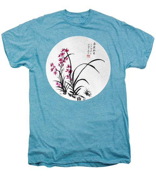 Red Iris - Round Men's Premium T-Shirt