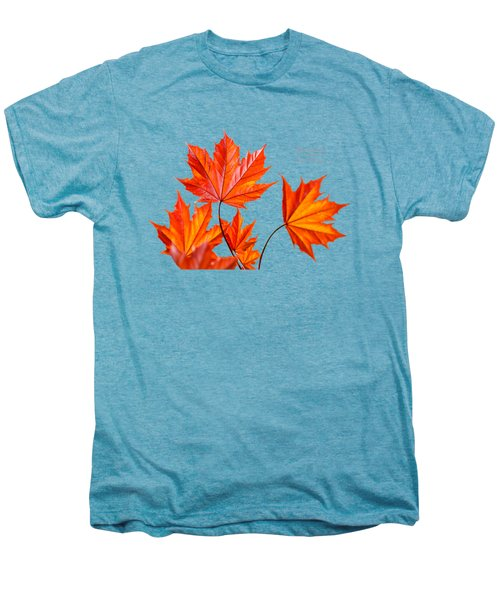 Red Maple Men's Premium T-Shirt by Christina Rollo