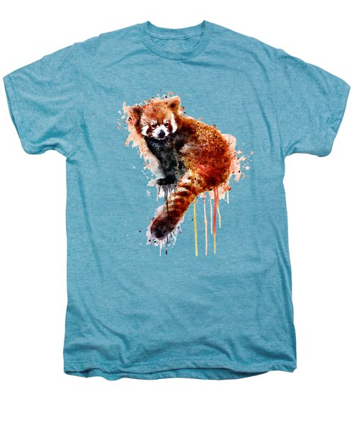Red Panda Men's Premium T-Shirt by Marian Voicu