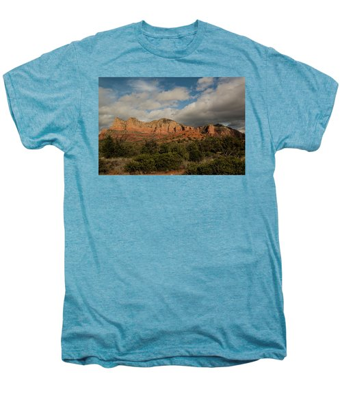 Red Rock Country Sedona Arizona 3 Men's Premium T-Shirt by David Haskett