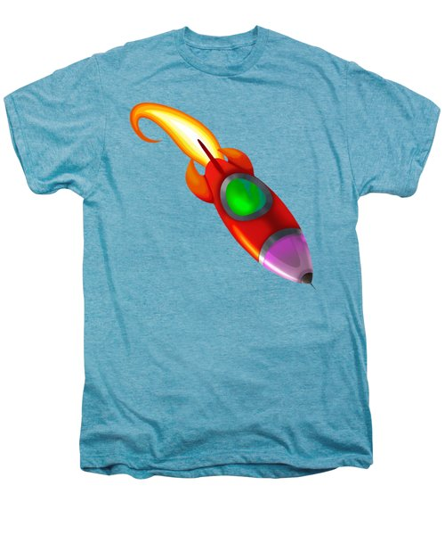 Red Rocket Men's Premium T-Shirt by Brian Kemper