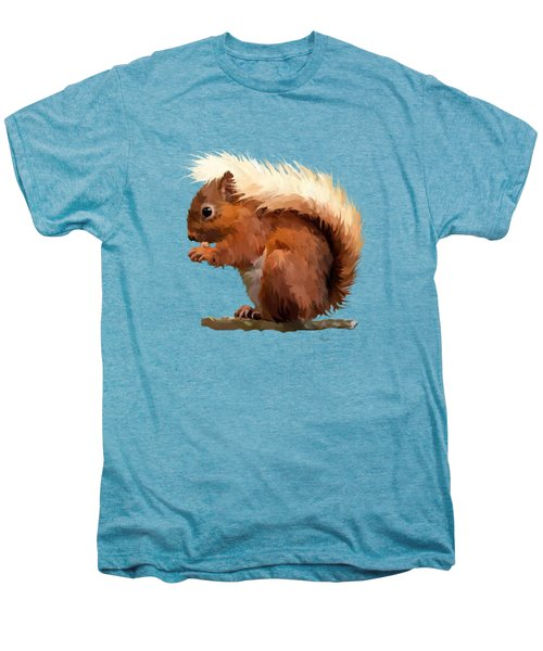 Red Squirrel Men's Premium T-Shirt by Bamalam  Photography