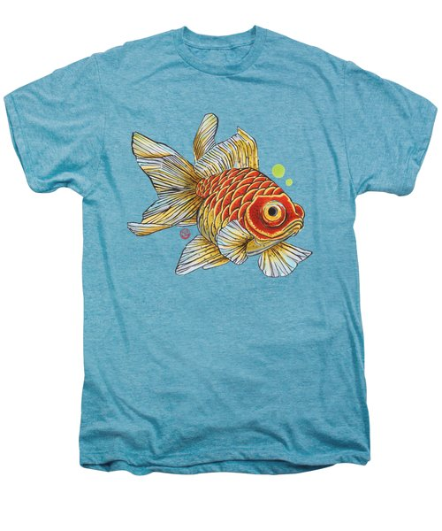 Red Telescope Goldfish Men's Premium T-Shirt by Shih Chang Yang