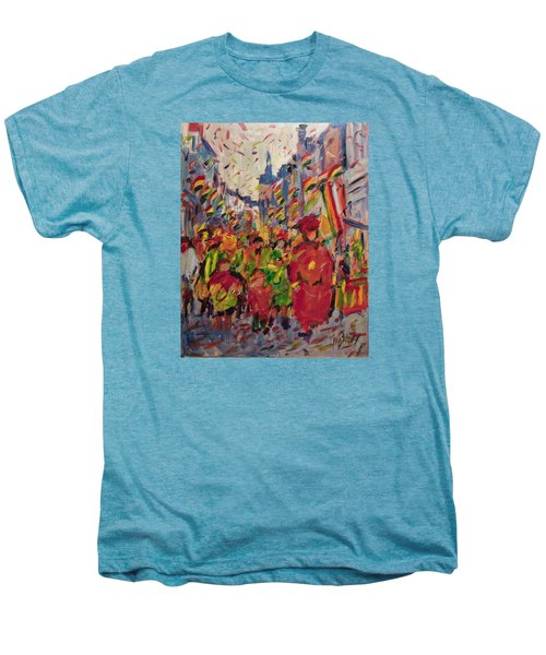 Red Yellow Green There They Come Vreug En Neugter Men's Premium T-Shirt