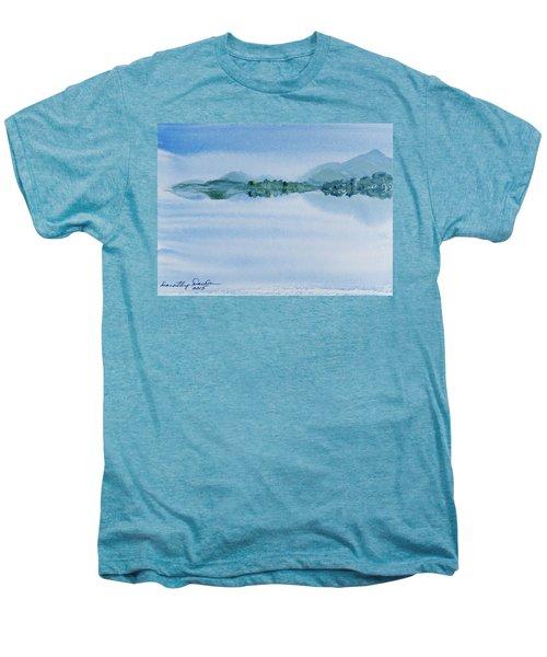 Reflection Of Mt Rugby In Bathurst Harbour Men's Premium T-Shirt
