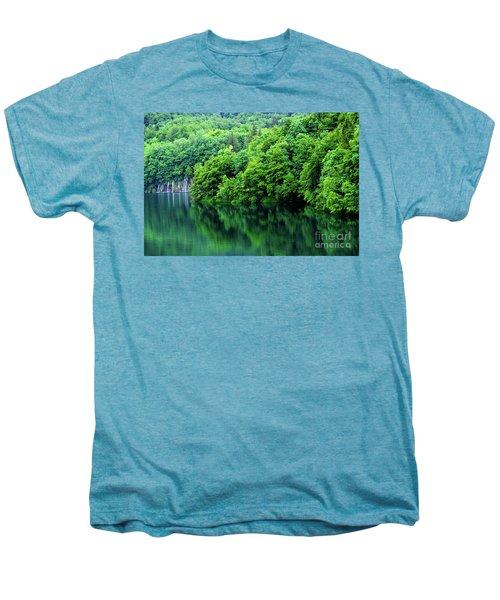 Reflections Of Plitvice, Plitvice Lakes National Park, Croatia Men's Premium T-Shirt