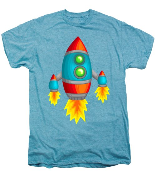 Retro Rocket Men's Premium T-Shirt by Brian Kemper