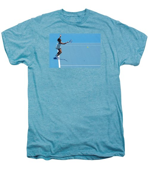 Return - Serena Williams Men's Premium T-Shirt by Andrei SKY
