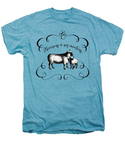 Revenons A Nos Moutons Men's Premium T-Shirt by Antique Images