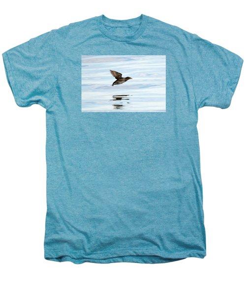 Rhinoceros Auklet Reflection Men's Premium T-Shirt by Mike Dawson