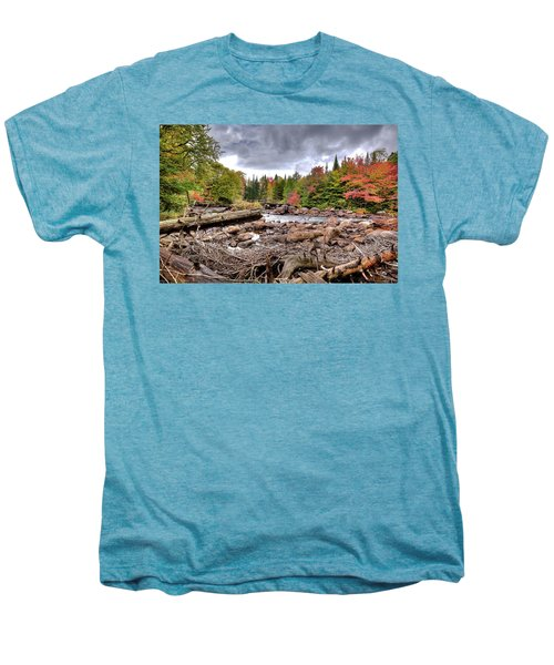 Men's Premium T-Shirt featuring the photograph River Debris At Indian Rapids by David Patterson