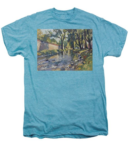 Riverjeker In The Maastricht City Park Men's Premium T-Shirt by Nop Briex