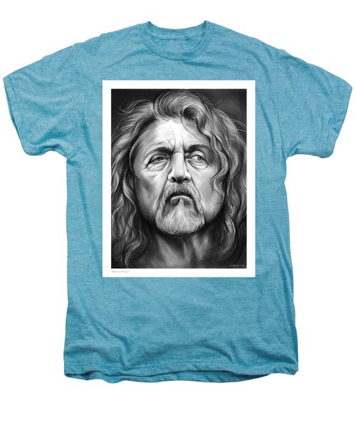 Robert Plant Men's Premium T-Shirt by Greg Joens