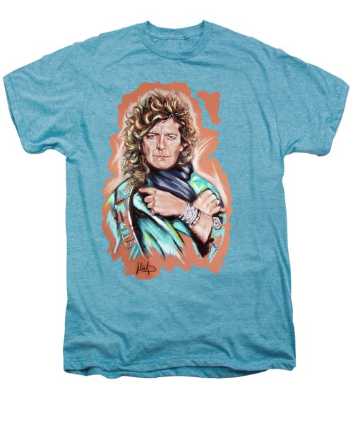Robert Plant Men's Premium T-Shirt by Melanie D