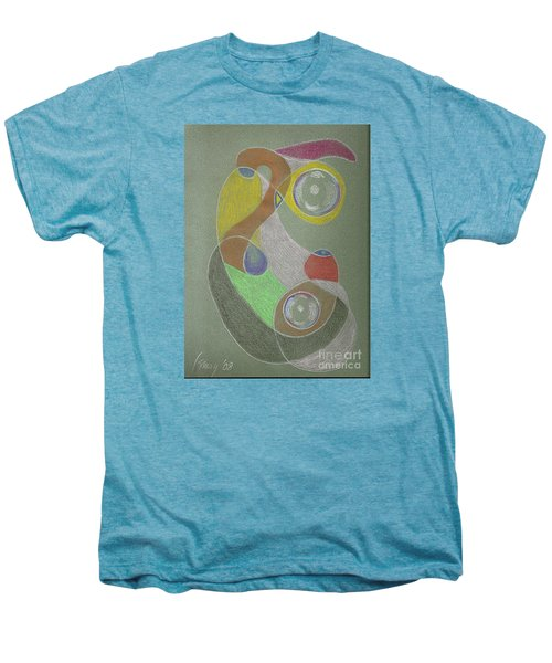 Men's Premium T-Shirt featuring the drawing Roley Poley Vertical by Rod Ismay