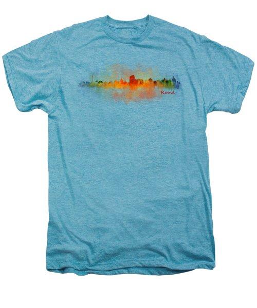 Rome City Skyline Hq V03 Men's Premium T-Shirt by HQ Photo