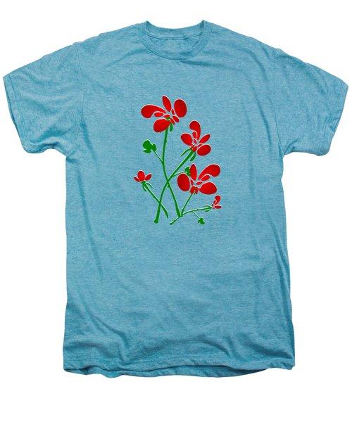 Rooster Flowers Men's Premium T-Shirt by Anastasiya Malakhova