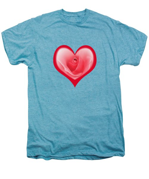 Rose Heart T-shirt And Print By Kaye Menner Men's Premium T-Shirt