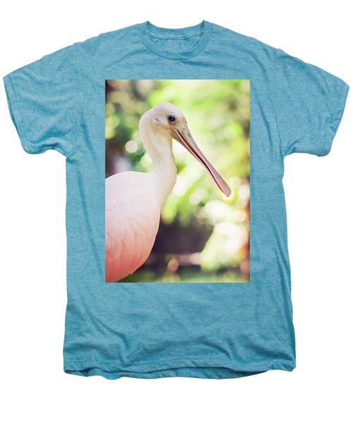 Roseate Spoonbill Men's Premium T-Shirt by Heather Applegate