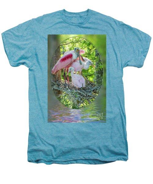 Roseate Spoonbills In Evangeline Parish Louisiana Men's Premium T-Shirt