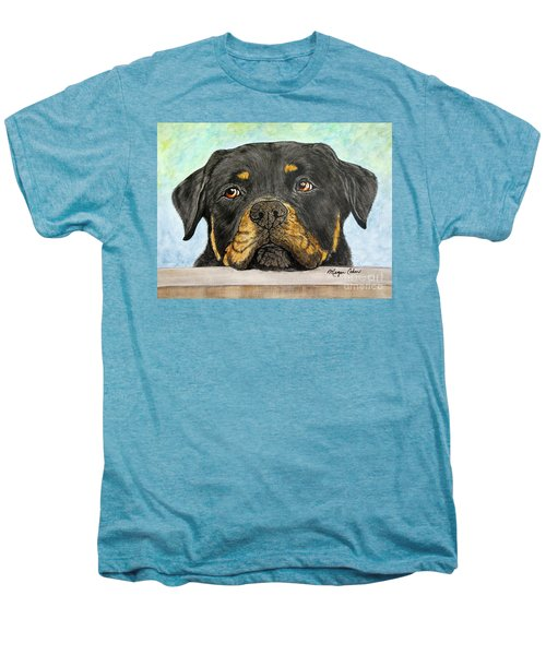 Rottweiler's Sweet Face 2 Men's Premium T-Shirt by Megan Cohen