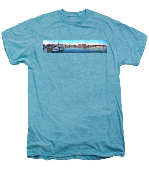 Rovinj Harbor And Boats Panorama Men's Premium T-Shirt