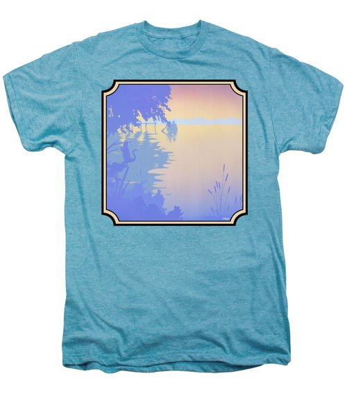 Rowing Back To The Boat Dock At Sunset Abstract Men's Premium T-Shirt