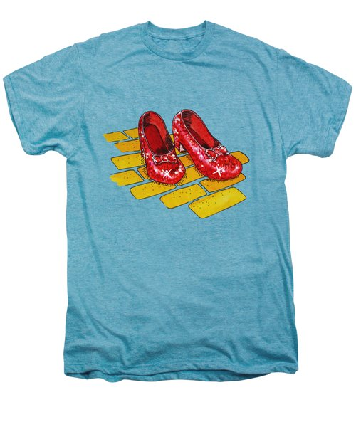 Ruby Slippers Wizard Of Oz Men's Premium T-Shirt