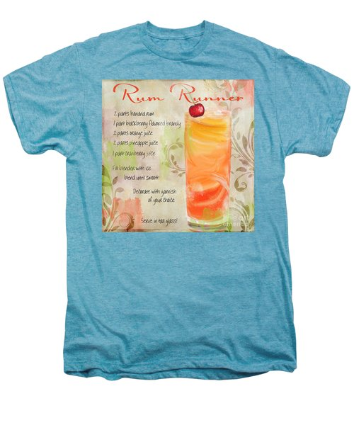 Rum Runner Mixed Cocktail Recipe Sign Men's Premium T-Shirt by Mindy Sommers
