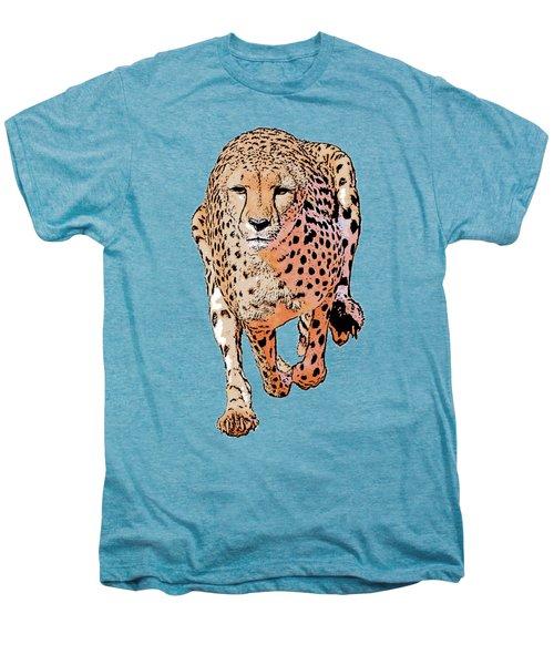 Running Cheetah Cartoonized #1 Men's Premium T-Shirt