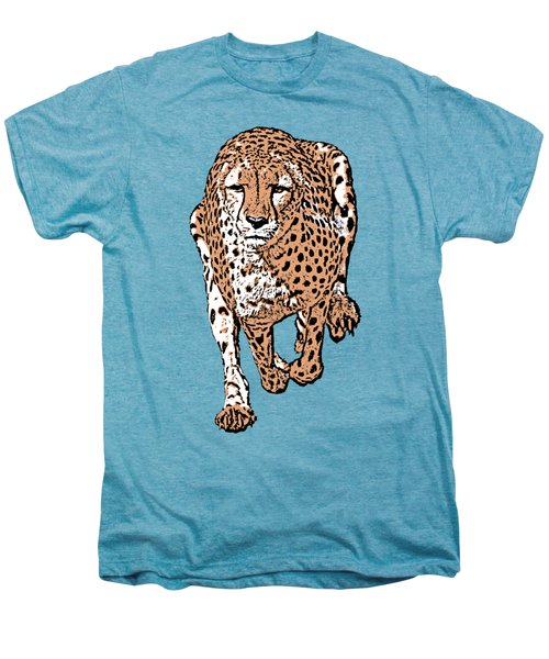 Running Cheetah Cartoonized #2 Men's Premium T-Shirt