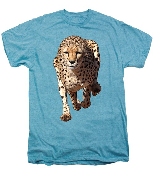 Running Cheetah Cartoonized #3 Men's Premium T-Shirt