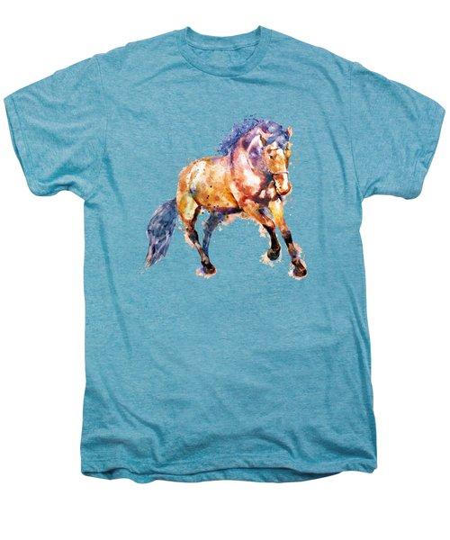 Running Horse Men's Premium T-Shirt by Marian Voicu
