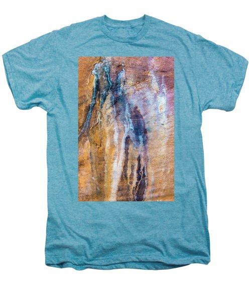 Men's Premium T-Shirt featuring the photograph Runoff Abstract, Bhimbetka, 2016 by Hitendra SINKAR
